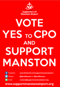 Vote Yes to CPO - Neils Red background